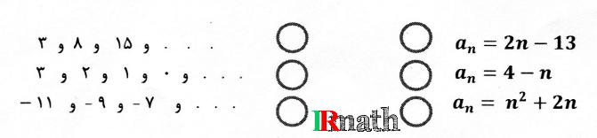 تصویر سوال شماره یک ریاضی پایه دهم دبیرستان دخترانه شهید بهشتی تهران 13951011 در سایت ریاضیات ایران