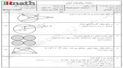 فایل ورد نمونه سوال هندسه ۲ پایه یازدهم شماره ۱
